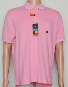 Chaps #9902 NEW Men/'s Natural Stretch 100/% Cotton Short Sleeve Polo Shirt