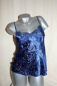 Lise-Charmel-Burnout-Singlet-Straps-Top-Dressing-Floral-Blue-36-New