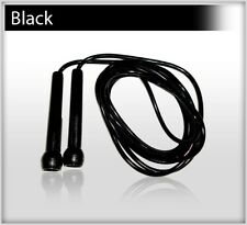 Plastic Skipping Rope PVC Speed Jump Rope Fitness Exercise Workout Jumping BLACK