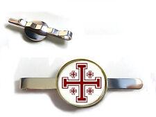 JERUSALEM CROSS CRUSADERS CROSS HERALDIC CROSS BADGE TIE SLIDE TIE GRIP TIE PIN