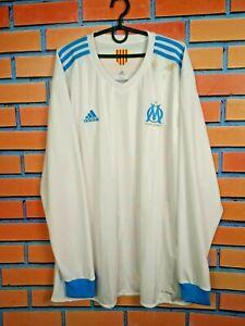 Details about Olympique Marseille Jersey 2017 2018 Long Sleeve Size XXL Shirt Adidas BK5352