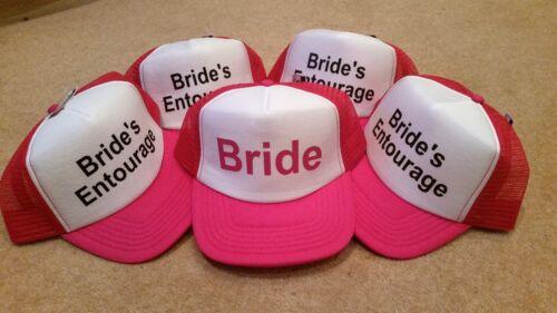 BRIDE BRIDE/'S ENTOURAGE HEN STAG PARTY Mesh Baseball Trucker Rapper Cap Hat