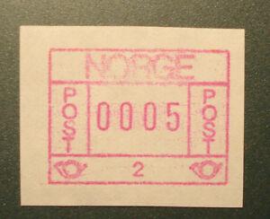 Atm/variable Rate Stamp/label Frama,mn 1 2 A-nr Norwegen 1978