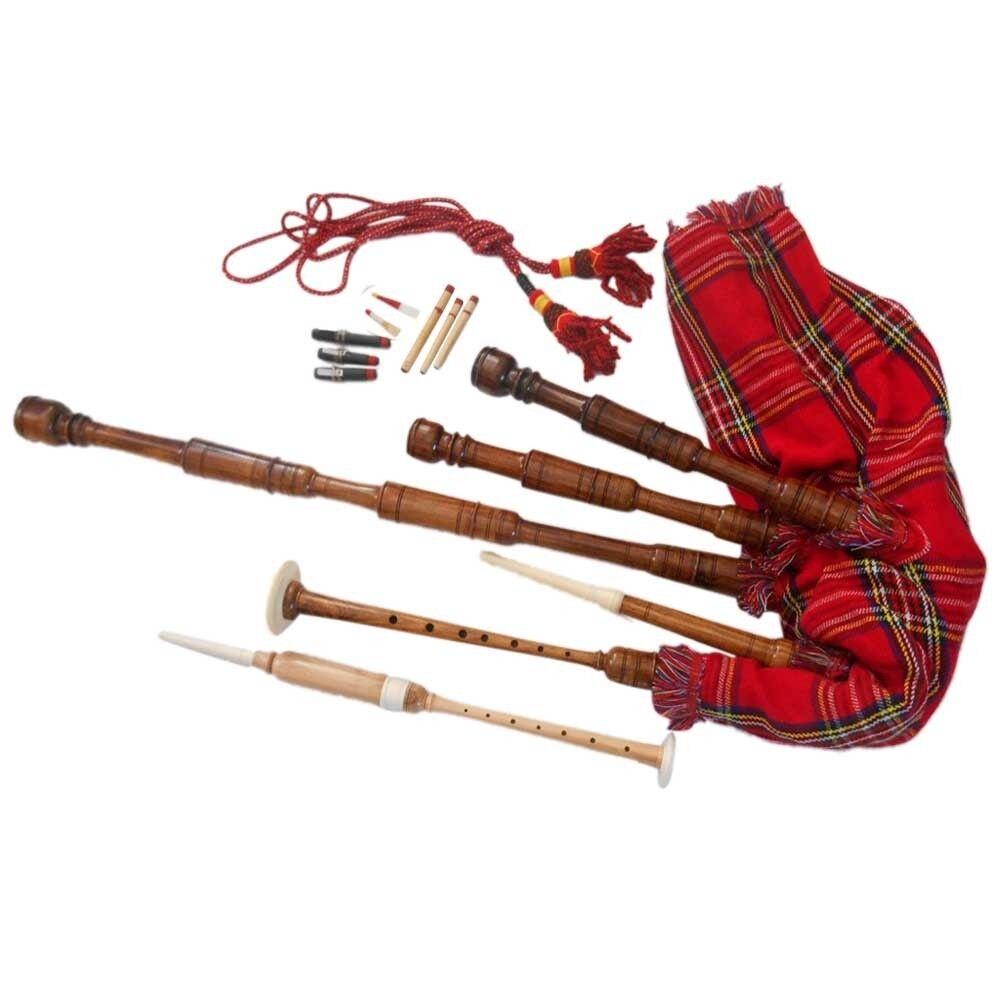 Schottischer Großer Highland Dudelsack Palisanderholz Komplettset Dudelsack,