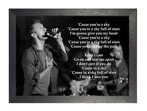 Coldplay-Leggenda-British-Band-034-un-Cielo-Completo-di-Stars-034-Rock-Poster-B-amp-w