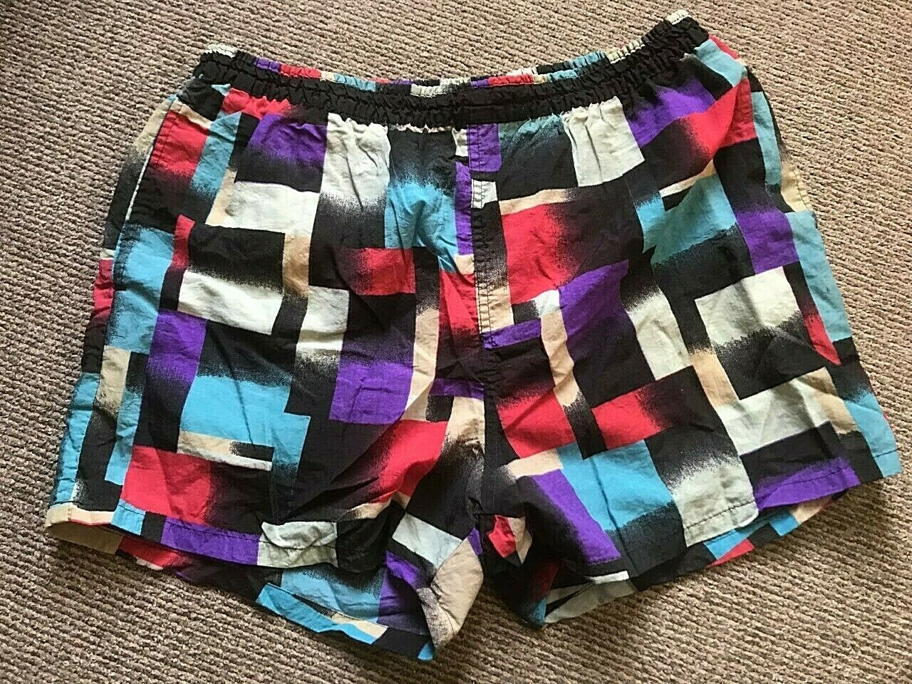 Very Rare Retro Vintage Original 1980's Beach Swimming Shorts Rodeo by C&A