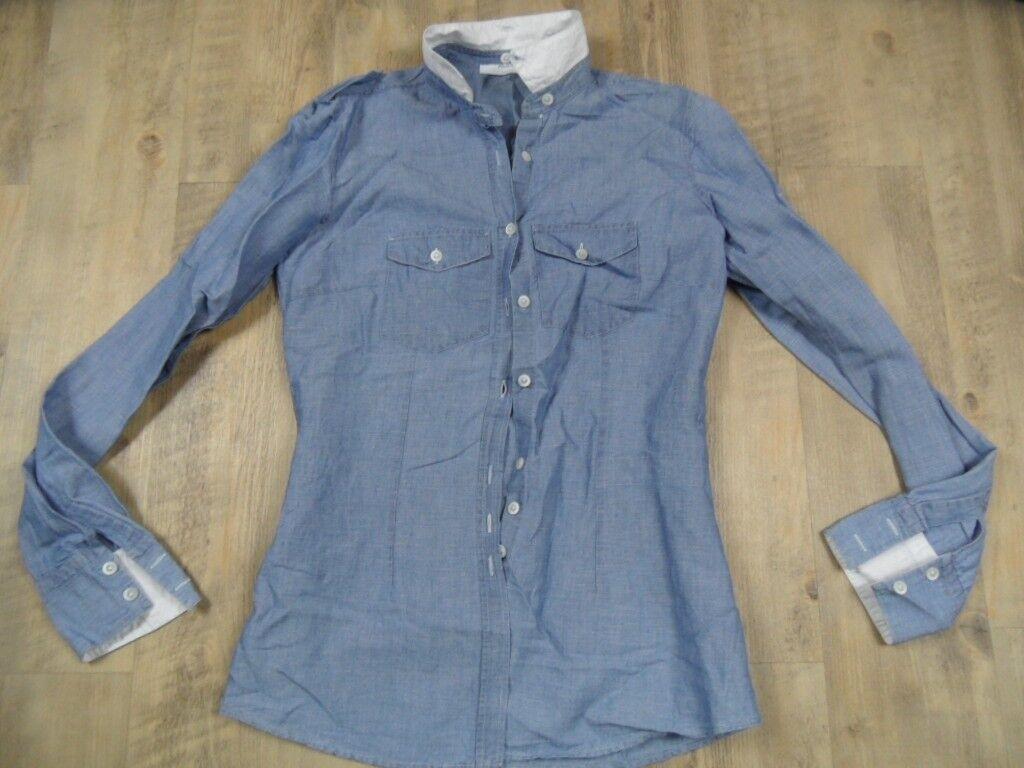 6f7f6c9095ed JEANS LEGGERI Camicia Collo variabile Tg. IT. 42 kos1217 Top AGLINI Blu  nrfizu5212-T-shirt