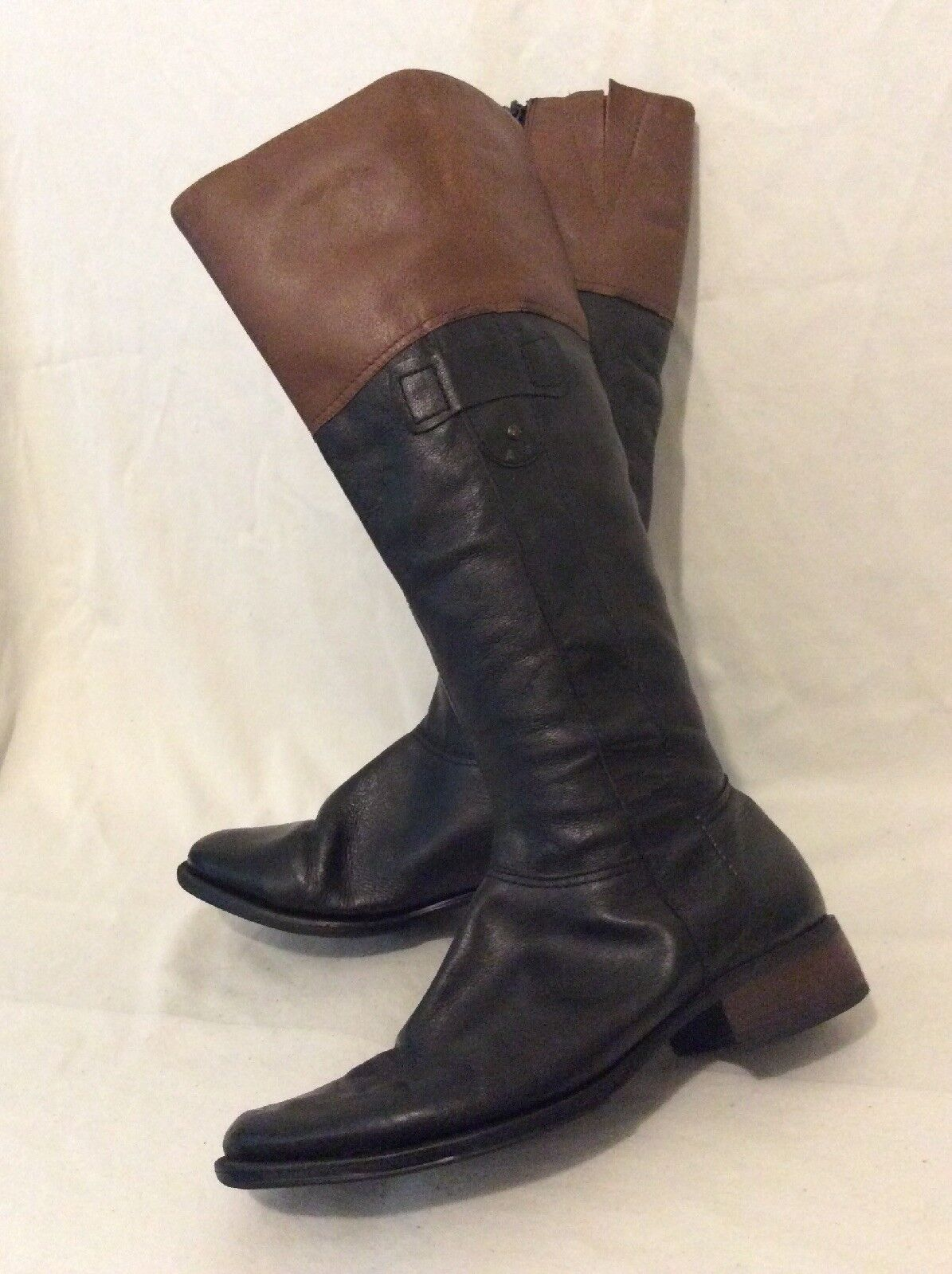 Et Vous Black Knee High Leather Boots Size 4