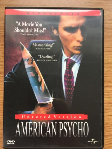 1 of 1 - American Psycho (DVD, 2000) Unrated US Version