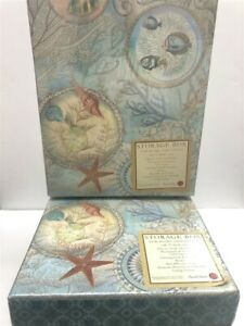 Lot-of-2-Punch-Studio-Photo-Storage-Box-46201-Seascape-Discontinued