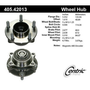 Wheel-Bearing-and-Hub-Assembly-Premium-Hubs-Front-Centric-405-42013