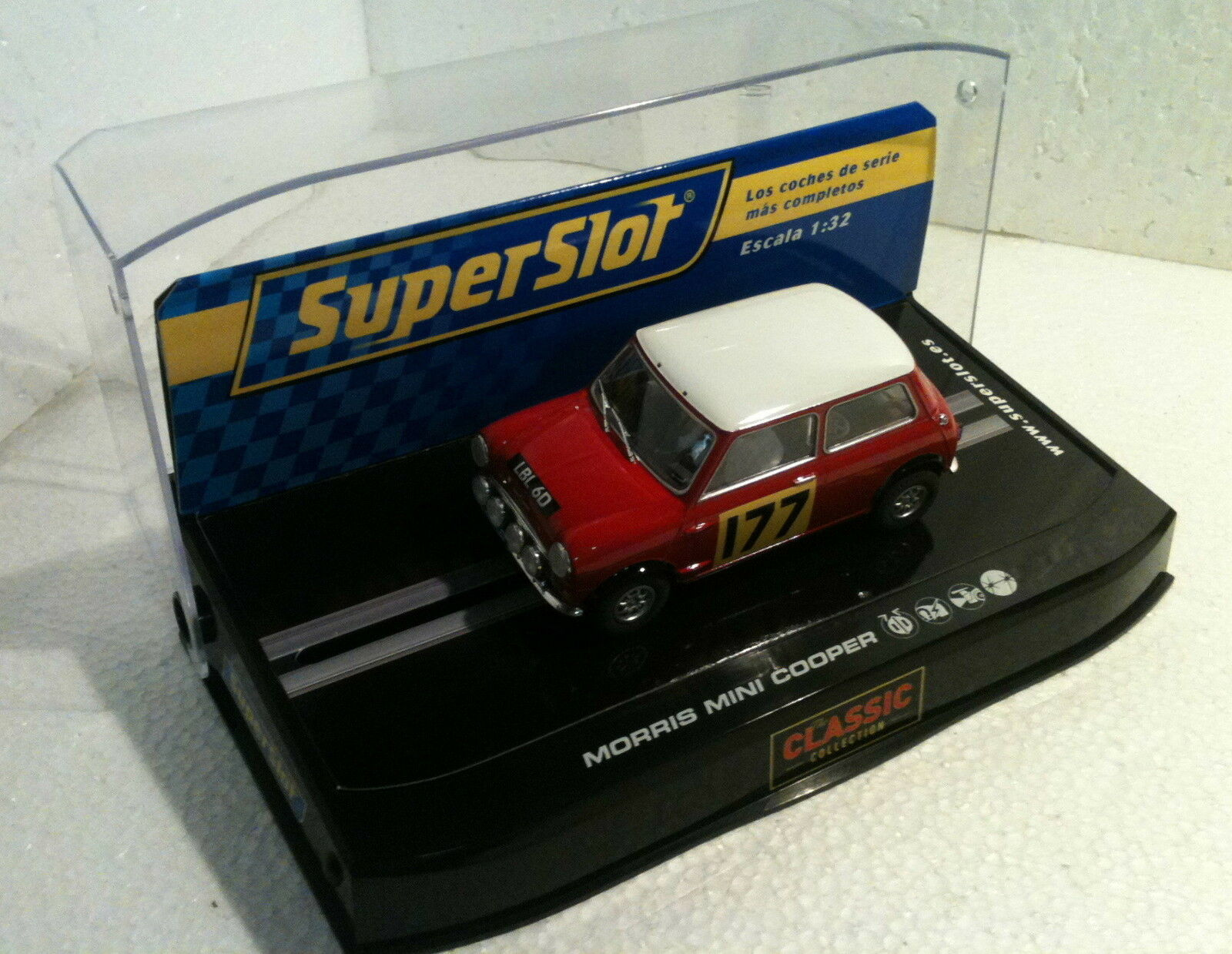 Qq H2807 SUPERSLOT MINI COOPER CLASSIC RALLY MONTE CARLO 67 Scalextric UK