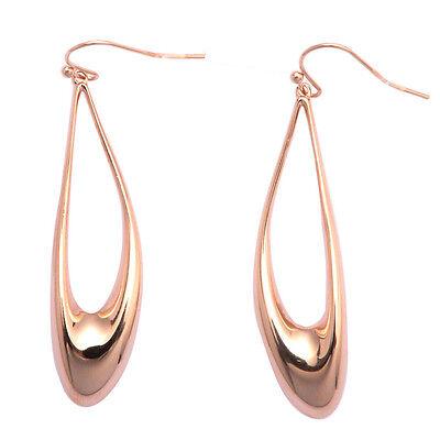 De Buman 18k Rose Gold Plated Dangle Earrings