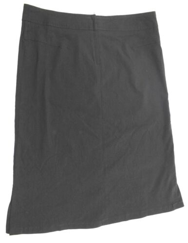 WOMENS Clockhouse UK8-14 LADIES ZIPPED BLACK BODYCON OFFICE CHURCH LONG SKIRT
