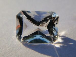 Genuine-1-5-Ct-Faceted-Herkimer-Diamond-from-NY-USA-Emerald-Cut-Eye-Clean