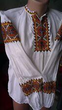 Ukrainian vintage embroidered blouse, Hutsul,S-M, handiwork