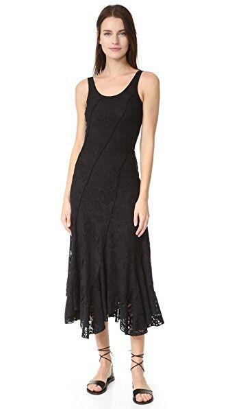 NEW FUZZI Sleeveless Ruffle Hem Dress- black Size L