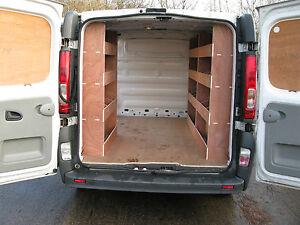 Renault Trafic Swb Van Tool Storage Plywood Shelving