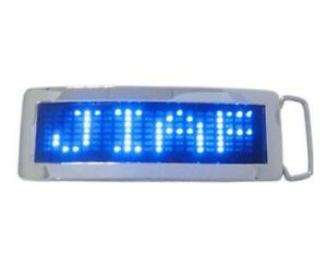 Programmable Scrolling Message Display LED Flash Light Belt Buckle DIY Text