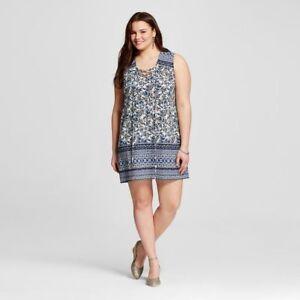 Details about NEW Women\'s Plus Size Perch by BLU PEPPER Sleeveless Shift  Dress size 1X X 2X 3X