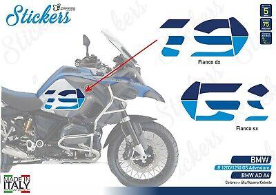 2 Stickers Tank Motorrad BMW R 1250 standard gs 24,5 x 2,5 cm oro