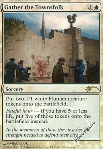 4 PROMO FOIL Gather the Townsfolk White WPN Mtg Magic Rare 4x x4