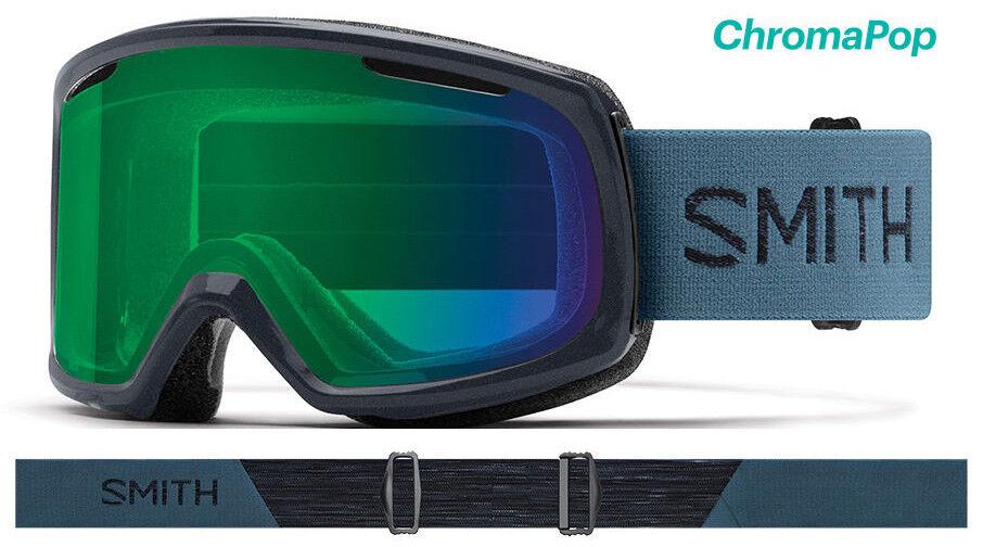 Smith RIOT Petrol Women's Goggles ChromaPop Everyday Green Mirror 2019 Ski NEW