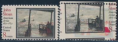 "#1433 Var ""john Sloan"" 2-way Color Shift Major Error Bt2404 Sufficient Supply United States"