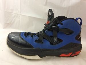 huge selection of c970e 11452 Details about Nike Air Jordan Melo 9 Boys 7 Youth Kid Basketball Shoes Blue  Black Red High Top