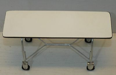 Dollhouse miniature handcrafted Medical cart white wood metal 1//12th scale