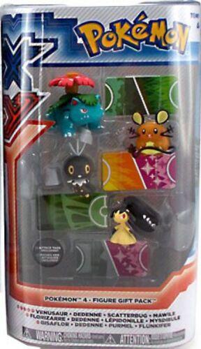 Scatterbug /& Mawile Figure 4-Pack Dedenne Pokemon XY Basic Venusaur