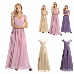 Woman-Chiffon-Maxi-Evening-Formal-Party-Ball-Gown-Prom-Bridesmaid-Cocktail-Dress
