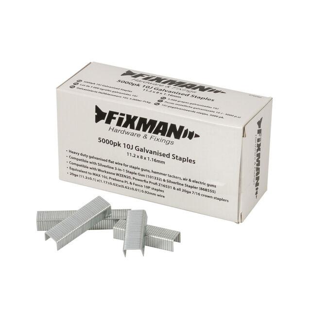 Galvanisierte Heftklammern 10J 11,2 X 14 X 1,16 mm 5000er Pckg Klammern NEU TOP
