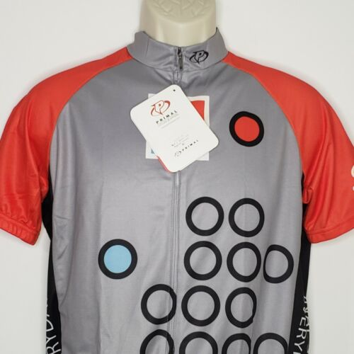 f420 Primal Cycling Apparel Mens S  Lilly Diabetes Back Pockets Full Zip