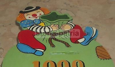 Circo_clown_grazioso Pagliaccio_risparmio_monete_salvadanaio Da Collezione_legno Grandi Varietà