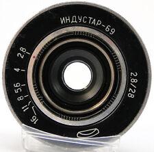 INDUSTAR-69 2.8/28 Russian Soviet USSR Wide Angle Pancake Lens M39 MMZ-LOMO #70