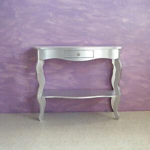 Consolle c/ripiano foglia argento legno masselo | eBay