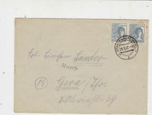 Germany 1947 Allied Occupation to Thuringia Brandenburg Stamps Cover ref 23221