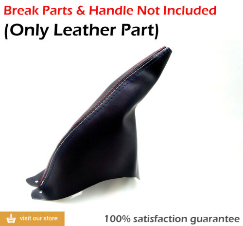 E Brake Boot Leather Synthetic for Ford Mustang 94-04 Tri Color Stitch