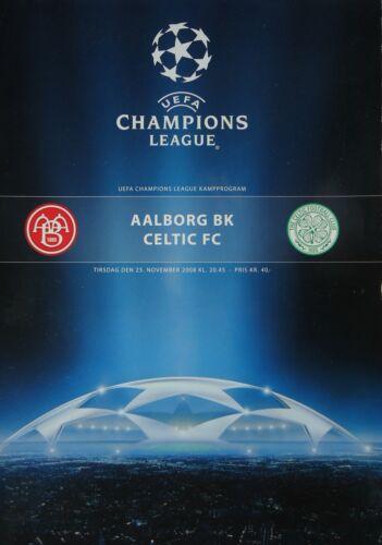 Programm UEFA CL 2008//09 Aalborg BK Celtic FC