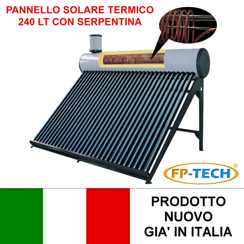 Pannelli Solari Termici Da Balcone pannello solare termico acqua calda 240l con serpentina per