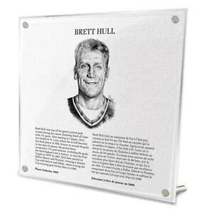 Brett Hull St. Louis Blues HHOF Legends Fire-Polished Acrylic Plaque