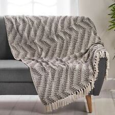 Anise Hand Loomed Boho Throw Blanket