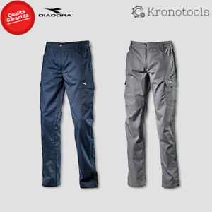 Diadora pantalone da lavoro pant level Grigio acciaio/Blu classico