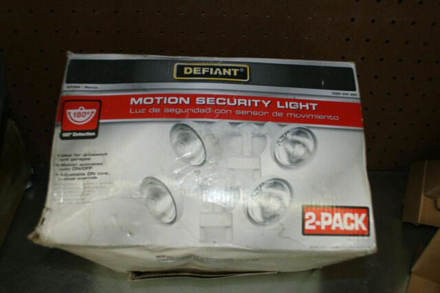 Defiant 180 Degree Outdoor White Motion Security Light Pack of 2