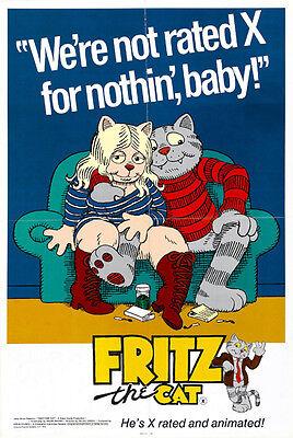 "Fritz The Cat Exploitation Movie Poster Replica 13x19/"" Photo Print"