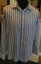 Men's Ted Baker Striped Blue & White Long Sleeved UK Size 5