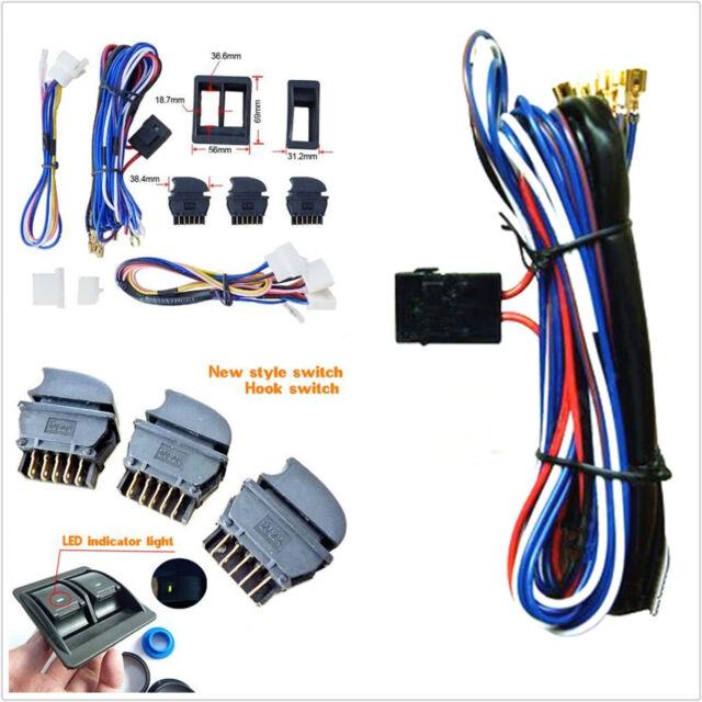 DIY DC 12v Car Power Electric Window Switch With Wire Harness ...