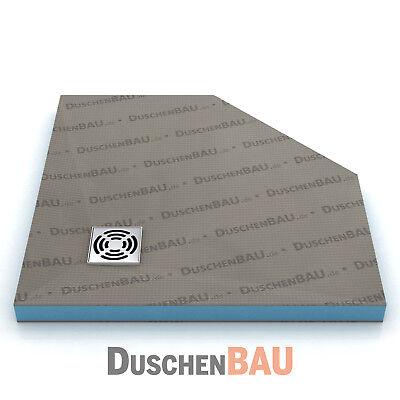 Duschelement Profi 90x90 cm Fünfeck befliesbar bodeneben Duschboard Duschtasse