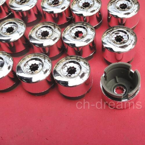 20PCS Chrome Wheel Lug Bolt Nut Cap Cover 7L6601173A For VW 2004-2014 Touareg
